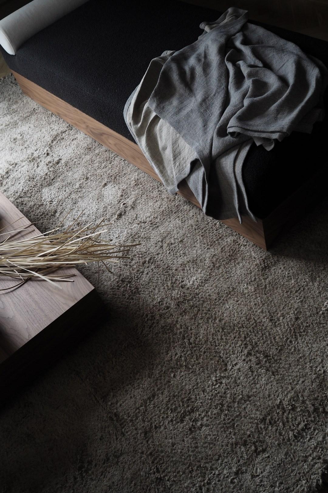 Scandinavian day bed, natural textures