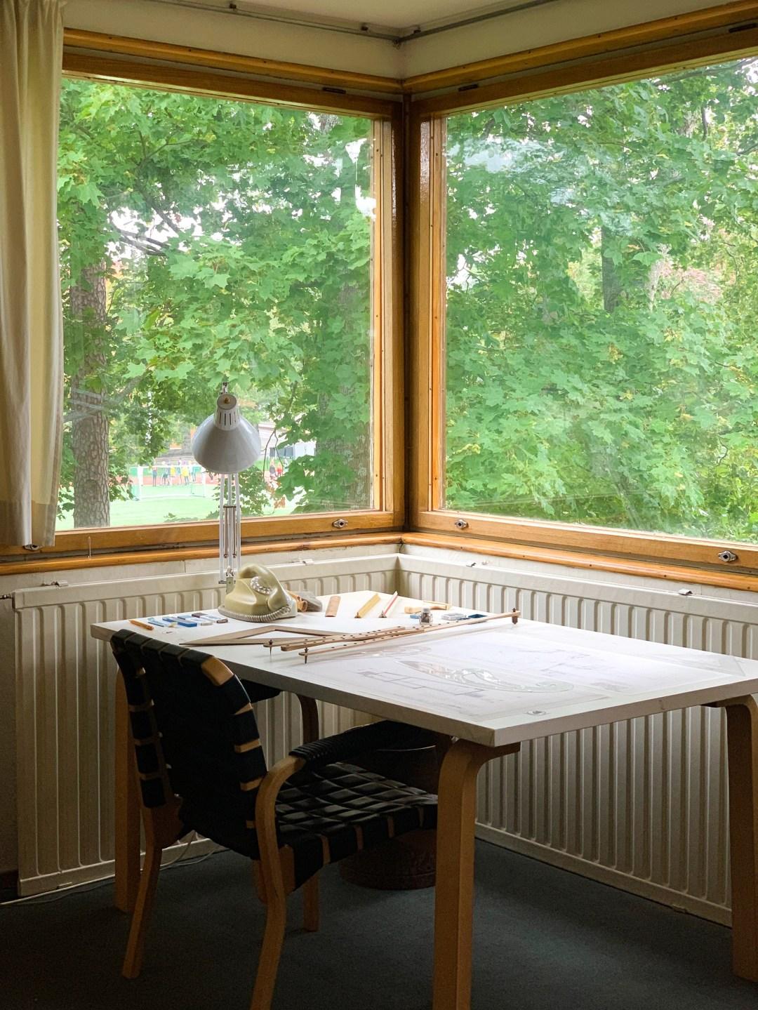 Alvar Aalto's home desk