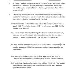 Averages Worksheet   Printable Worksheets and Activities for Teachers [ 2339 x 1654 Pixel ]