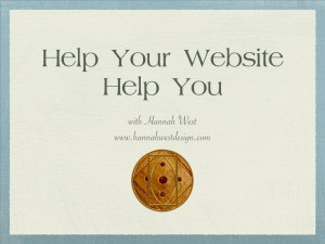 Help Your Website Help You - thumbnail image for document for 2-233-2015 SOSA presentation