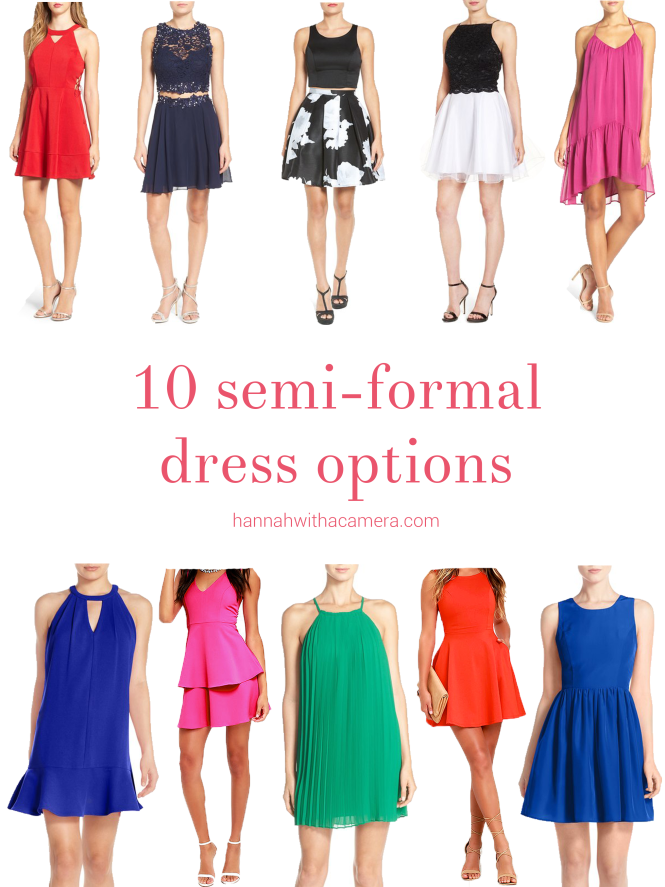 10 Semi-Formal Dress Options