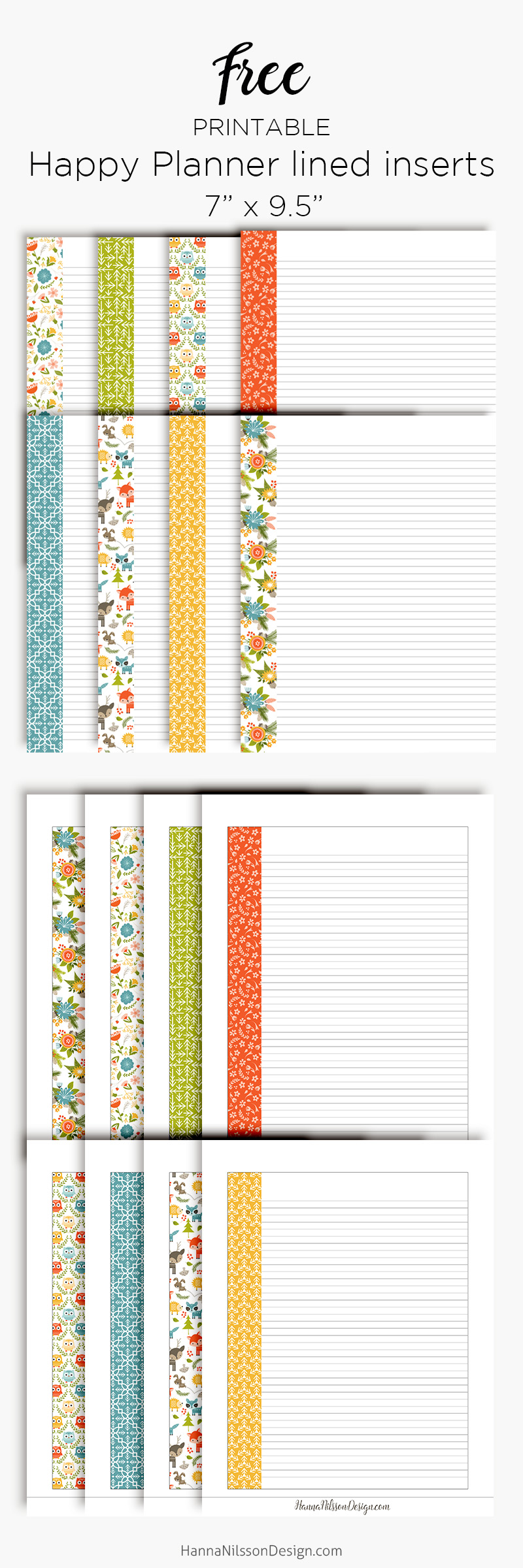 image about A5 Planner Printables titled Covered planner inserts Joyful Planner + A5 Specific dimension