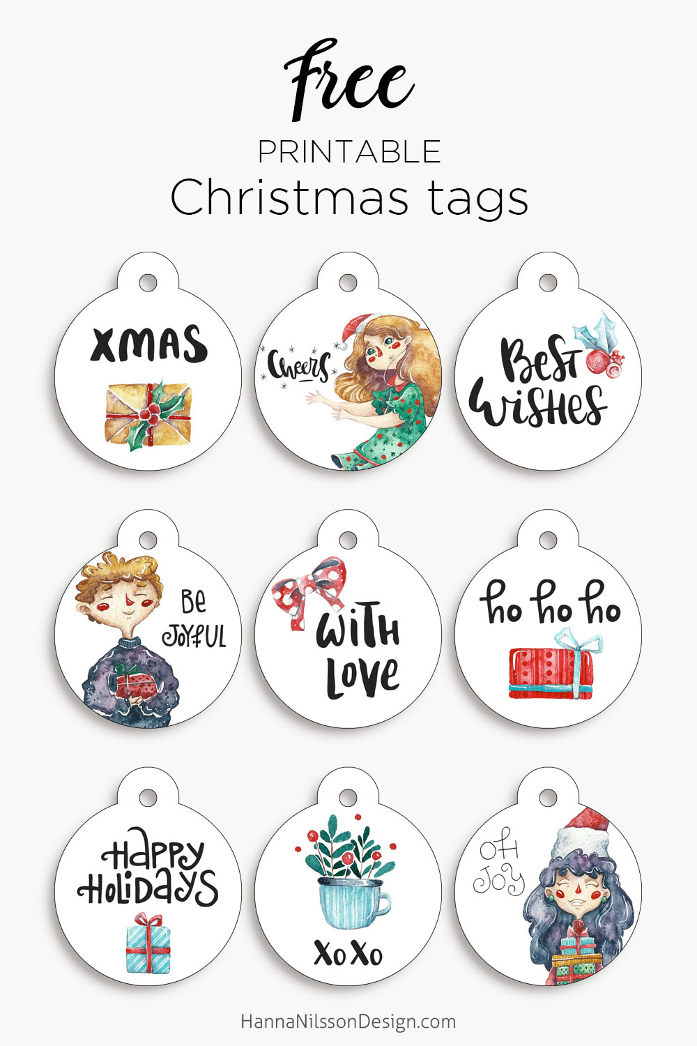 photo about Printable Round Tags known as Spherical Xmas tags absolutely free Xmas printable Hanna