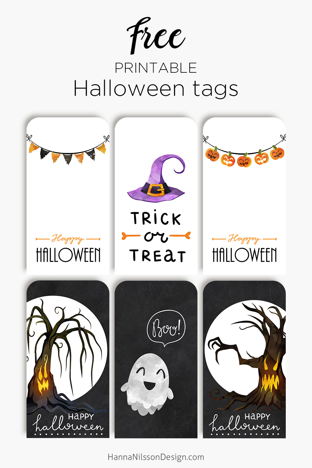 photograph regarding Free Printable Halloween Gift Tags called Delighted Halloween tags Totally free printable creepy lovable