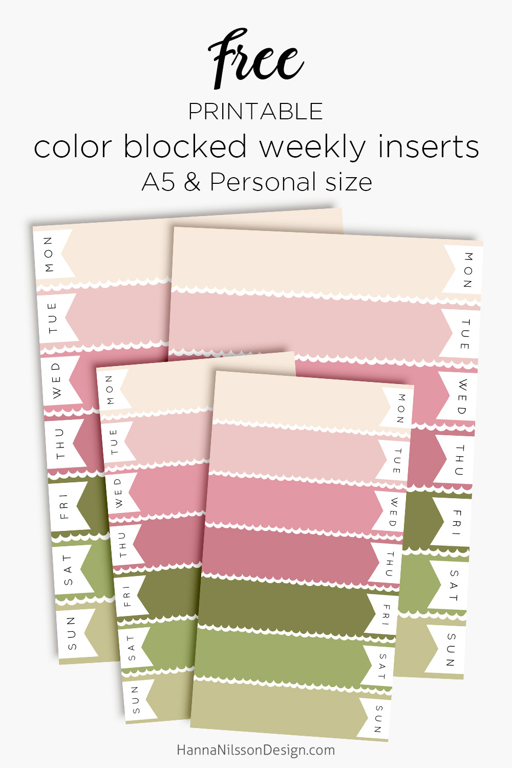 image relating to Free Personal Planner Printables named Red spring colour blocked weekly planner inserts Cost-free