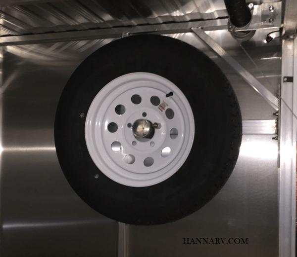 triton 13259 spare tire rack kit for tc118 tc128 tc167 tc167 2 trailers model year 2019 and older
