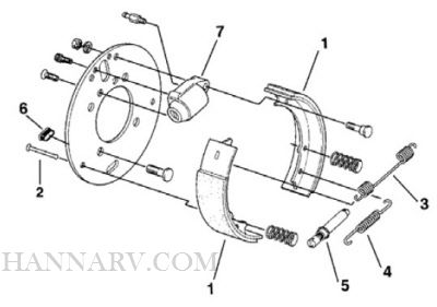 Dexter 54-80-3 7 x 1-3/4 Inch Left Hand Hydraulic Brake