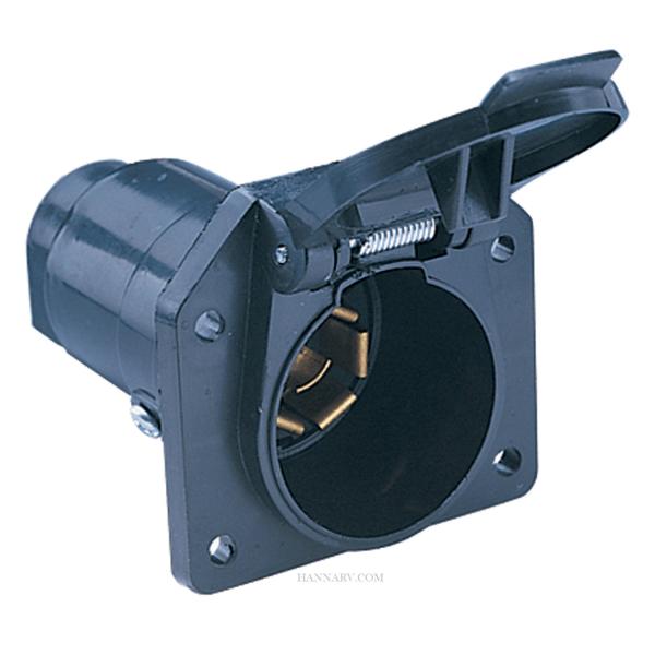 hopkins 48485 7pole round rv blade plastic connector socket