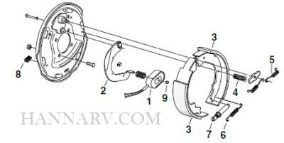 Redline Trailer Repair Parts BE10-35R 10 x 2-1/4 Inch 3.5K