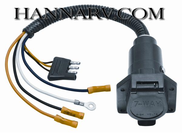 6 way flat trailer wiring diagram ba falcon radio tow ready 20321 4 to 7 pin connector adapter mfg 28911 hanna supply