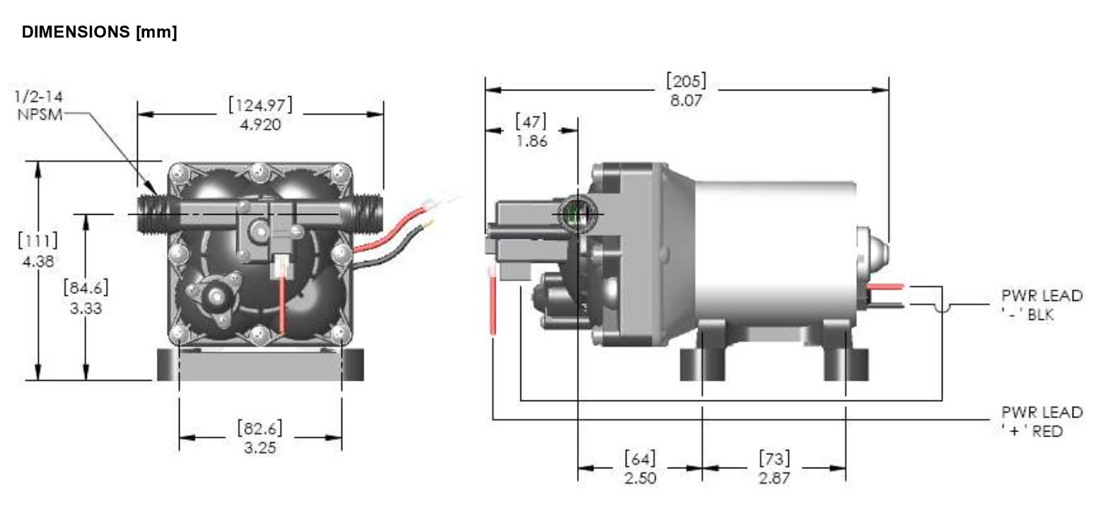 rv water pump wiring diagram 1997 7 3 powerstroke glow plug relay shurflo 4008 101 e65 revolution series fresh 12 volt dc