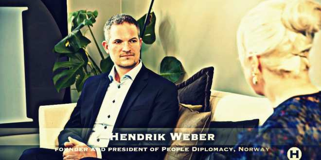"""TV interview with People Diplomacy Norway, record 90 000 views in few hours: """"We want peace in our time, not war"""", Hendrik Weber"""