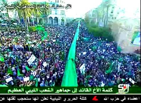 Million marched for Gaddafi tripoli 2011