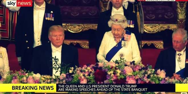 President Trump's splendid trip to UK, visit with Queen Elisabeth, while US mainstream media slanders notoriously #FakeNewsAgain, Hanne Herland, Herland Report