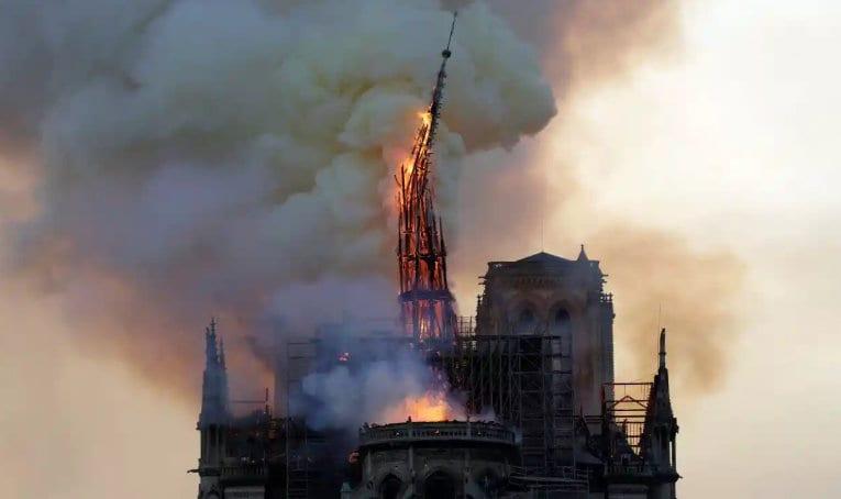 Notre dame arson vandalism attack christianity burning getty herland report