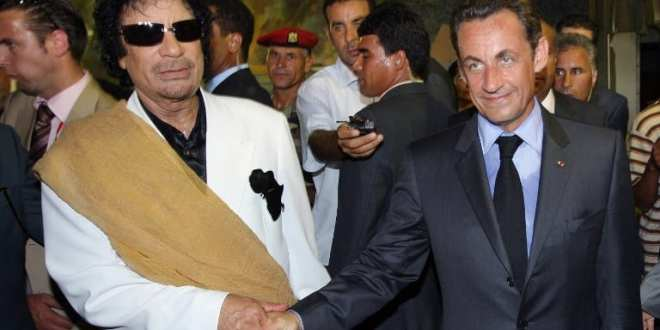 Gaddafi Sarkozy AFP Herland Report