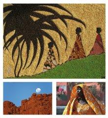 Afrika-Kunstausstellung mit Sandmalerei und Fotografien von Lune Ndiaye, Bananas Hak, Birte Meyer, Rita & Harald Schneider