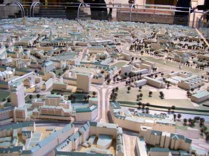 Modell des heutigen Hannovers