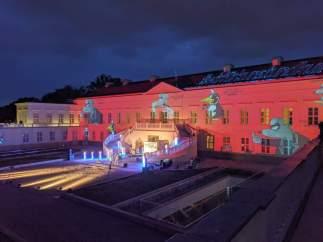 Illuminiertes Schloss Herrenhausen