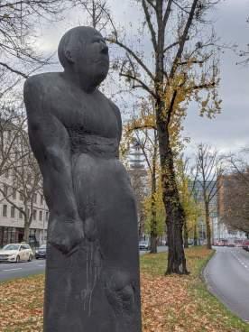 Skulptur an der Hamburger Allee