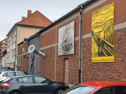 Kunst an der Bilderwand Bertramstraße
