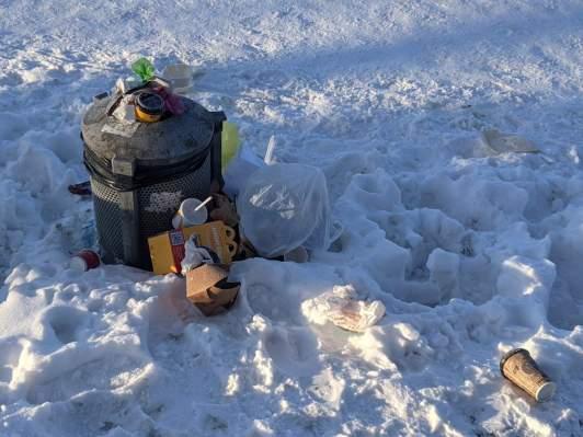 Mülleimer am Maschsee
