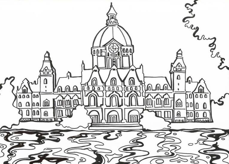Das Rathaus Zum Ausmalen Rathausjubilum