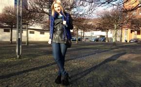 Pinko vest & Burberry leggins