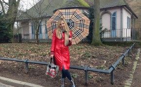 Burberry umbrella & Burberry boots