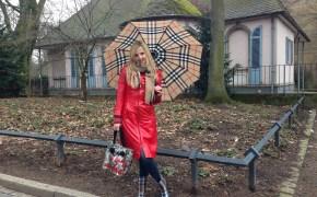 Burberry umbrella & Burberry boots
