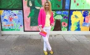 H&M blazer & Dior top