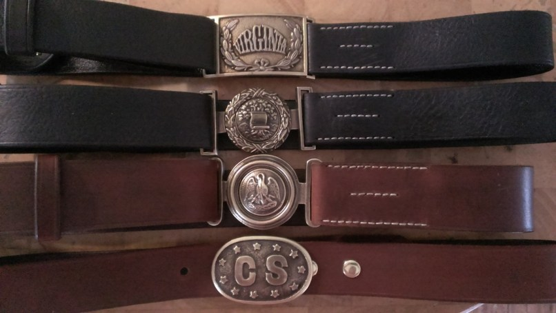 Confederate Belts And Buckles Made For A Customer