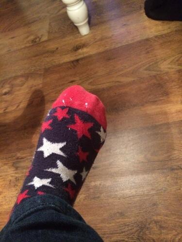 My Paint Splattered Socks