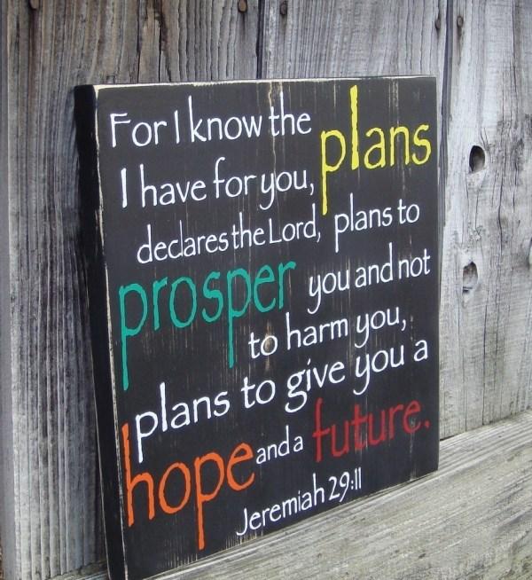 Jeremiah 29v11