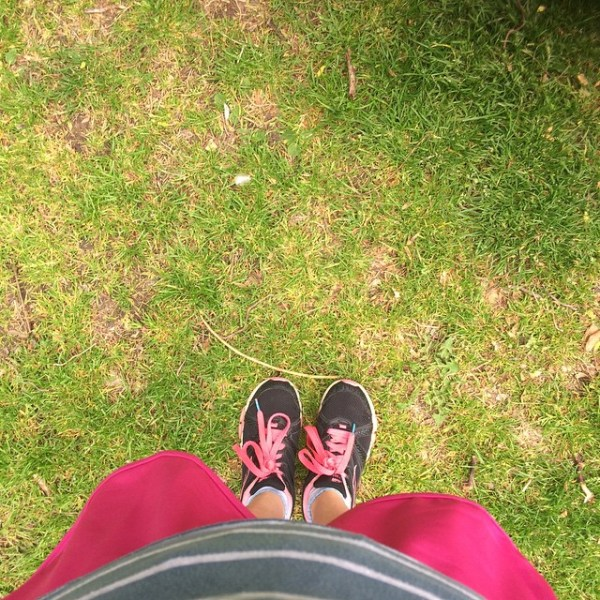 Let's do this. My Shoes at the start line for ParkRun