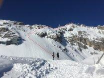Routenverlauf bis zum Gipfel