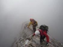 Klettern bei Null Sicht