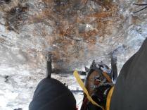 Leitersprossen mit Eis überzogen