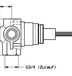 hansa concealed diverter g3 4 dn20 02850100 [ 1561 x 1080 Pixel ]