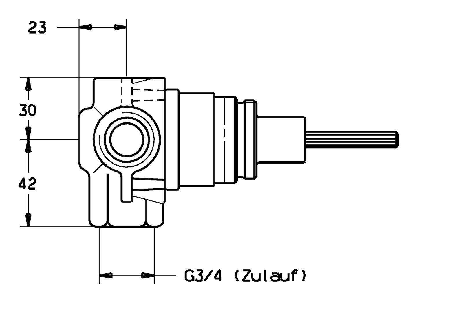 hight resolution of hansa concealed diverter g3 4 dn20 02850100