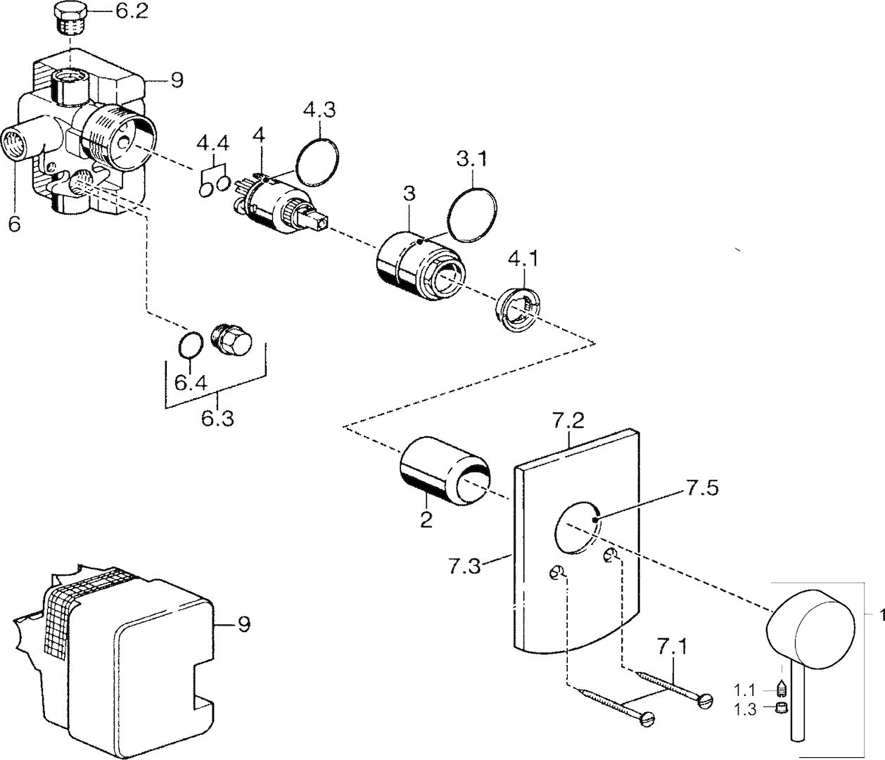 hight resolution of sp52610107 cover part for shower faucet