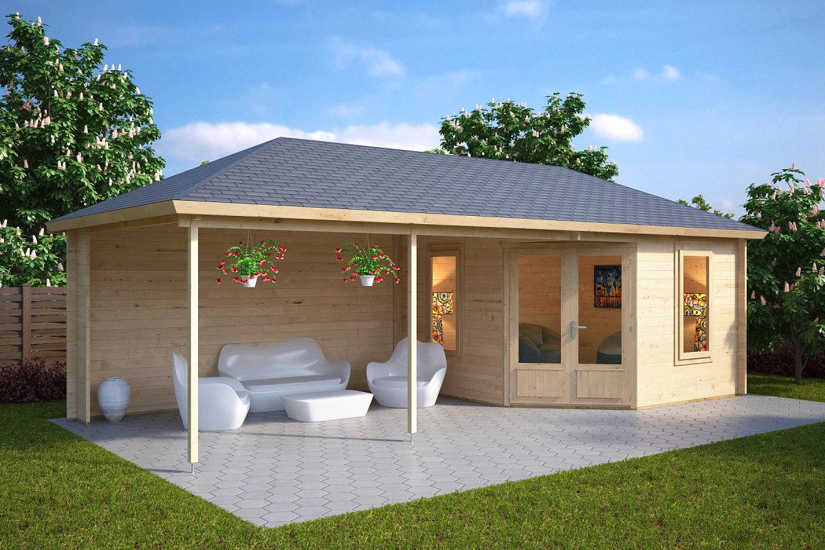 Die 7 besten Holzhuser mit Terrasse  Hansagarten24