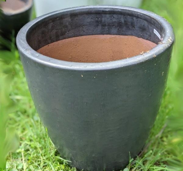 photo: gray ceramic planter