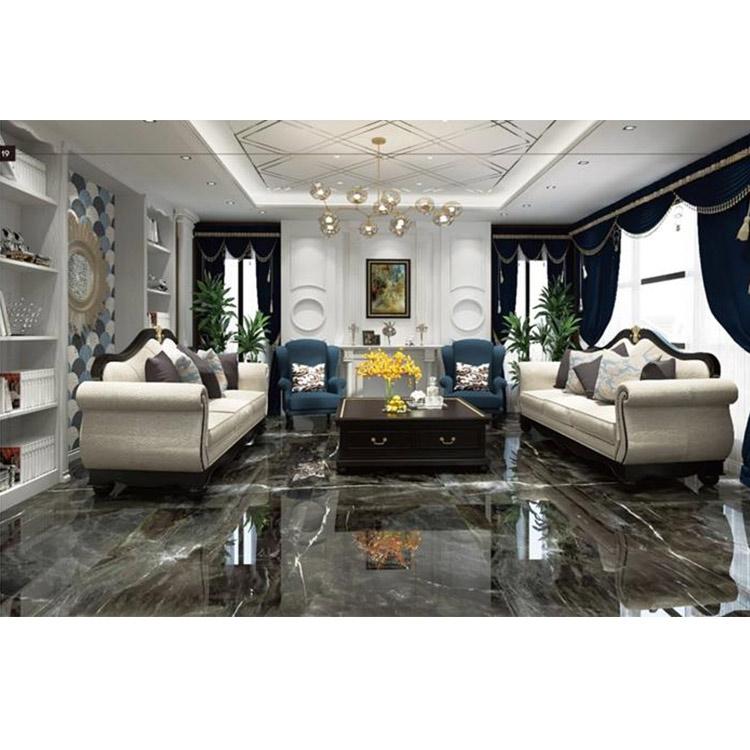 black polished porcelain floor tile