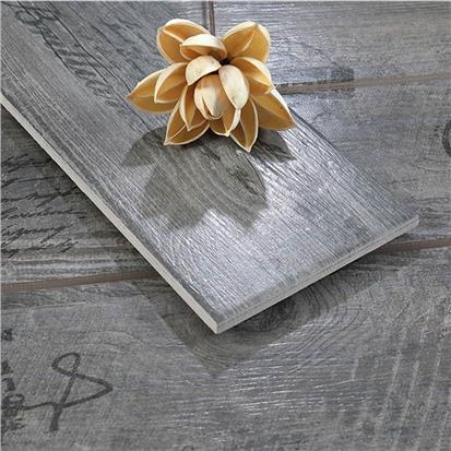 dark grey glazed ceramic wood tile