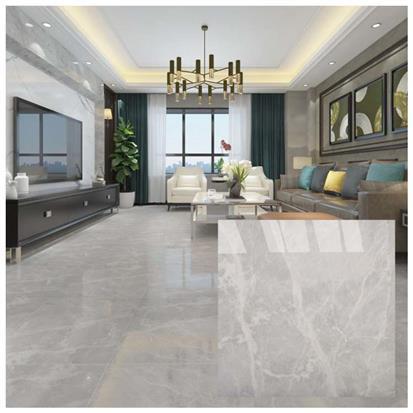 brown polished ceramic floor tile