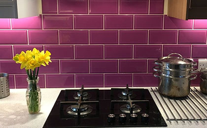 purple wall floor tiles