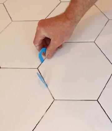 tile a hexagonal curbless shower floor