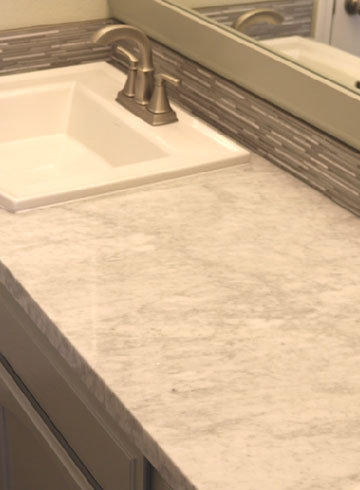 how to install marble tile countertops