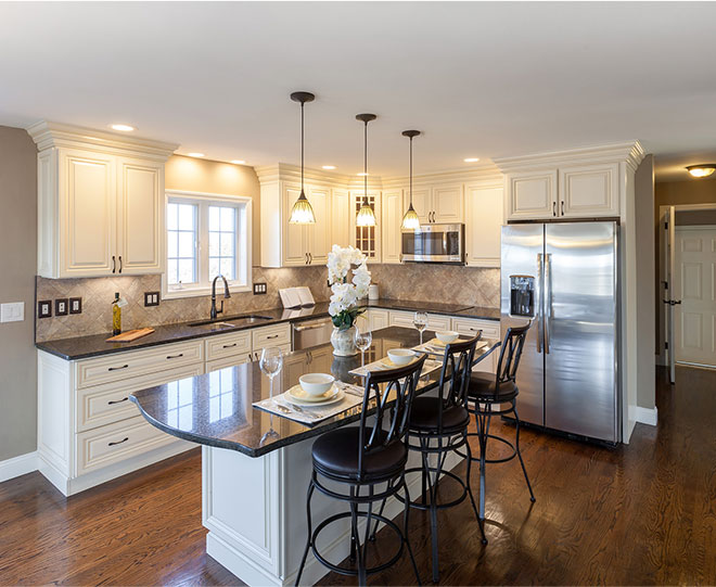 do you install tile flooring or kitchen